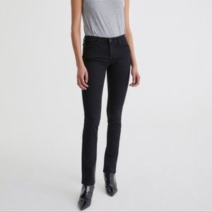 AG The Harper Straight Mid Rise Jeans Black  Size 29